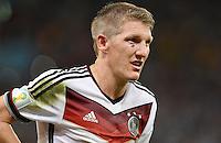 FUSSBALL WM 2014                       FINALE   Deutschland - Argentinien     13.07.2014 DEUTSCHLAND FEIERT DEN WM TITEL 2014:  Bastian Schweinsteiger gezeichtnet vom WM Finale