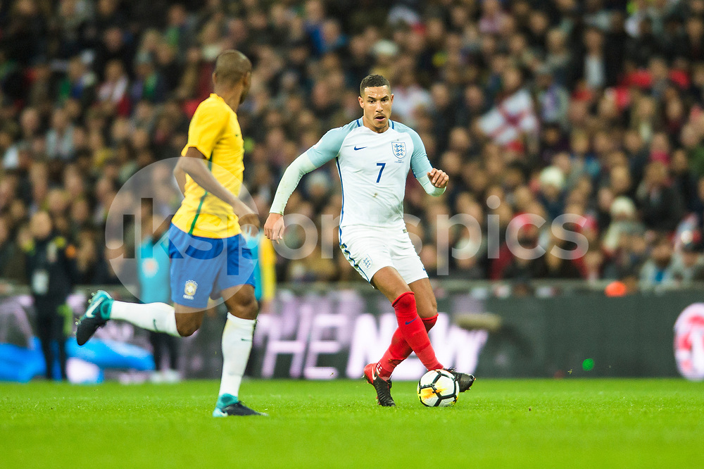 Jake Livermore of England in action during the international friendly match between England and Brazil at Wembley Stadium, London, England on 14 November 2017. Photo by Darren Musgrove.