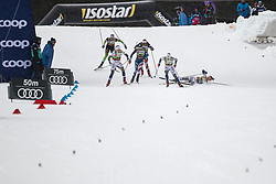 Svahn Linn (SWE), Sundling Jonna (SWE), Nilsson Stina (SWE), Caldwell Sophie (USA) during the Ladies sprint free race at FIS Cross Country World Cup Planica 2019, on December 21, 2019 at Planica, Slovenia. Grega Valancic / Sportida