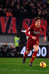 03.02.2019, Stadio Olimpico, Rom, ITA, Serie A, AS Roma vs AC Milan, 22. Runde, im Bild zaniolo // zaniolo during the Seria A 22th round match between AS Roma and AC Milan at the Stadio Olimpico in Rom, Italy on 2019/02/03. EXPA Pictures © 2019, PhotoCredit: EXPA/ laPresse/ Alfredo Falcone<br /> <br /> *****ATTENTION - for AUT, SUI, CRO, SLO only*****
