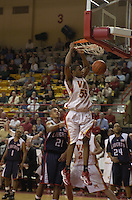 VMI's Reggie Williams, who leads NCAA Division I in scoring with 28.8 points per game, collects two of his 32 points against Big South Conference rival Liberty in a February 21 game in Lexington.