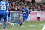 George Francomb midfielder for AFC Wimbledon (7) in action during the Sky Bet League 2 match between AFC Wimbledon and Accrington Stanley at the Cherry Red Records Stadium, Kingston, England on 5 March 2016. Photo by Stuart Butcher.