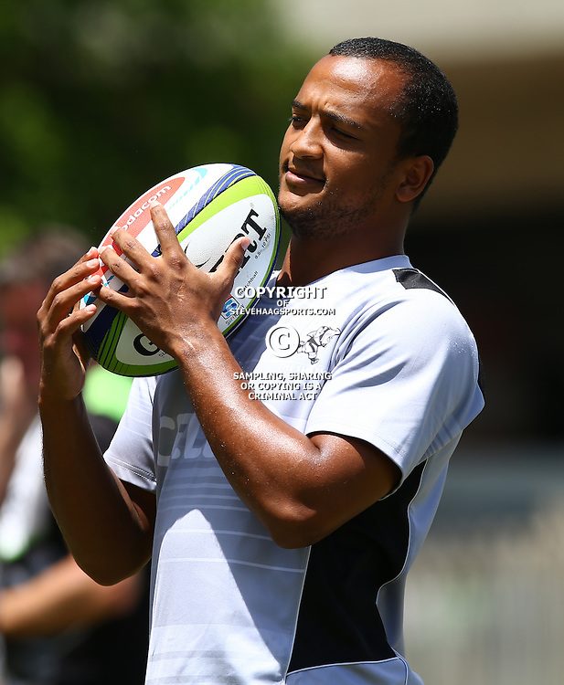 DURBAN, SOUTH AFRICA - JANUARY 17: Rhyno Smith  during the Cell C Sharks training at Growthpoint Kings Park on January 17, 2017 in Durban, South Africa. (Photo by Steve Haag/Gallo Images)