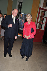 HRH PRINCESS ALEXANDRA and GRAHAM RUST at a private view of The Secret Garden and A Little Princess an exhibition of original watercolours by Graham Rust held at St.Wilfrid's Hall, The Brompton Oratory, London on 2nd October 2012.