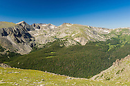 View of Rocky Mountain National Park from Trail Ridge Road.