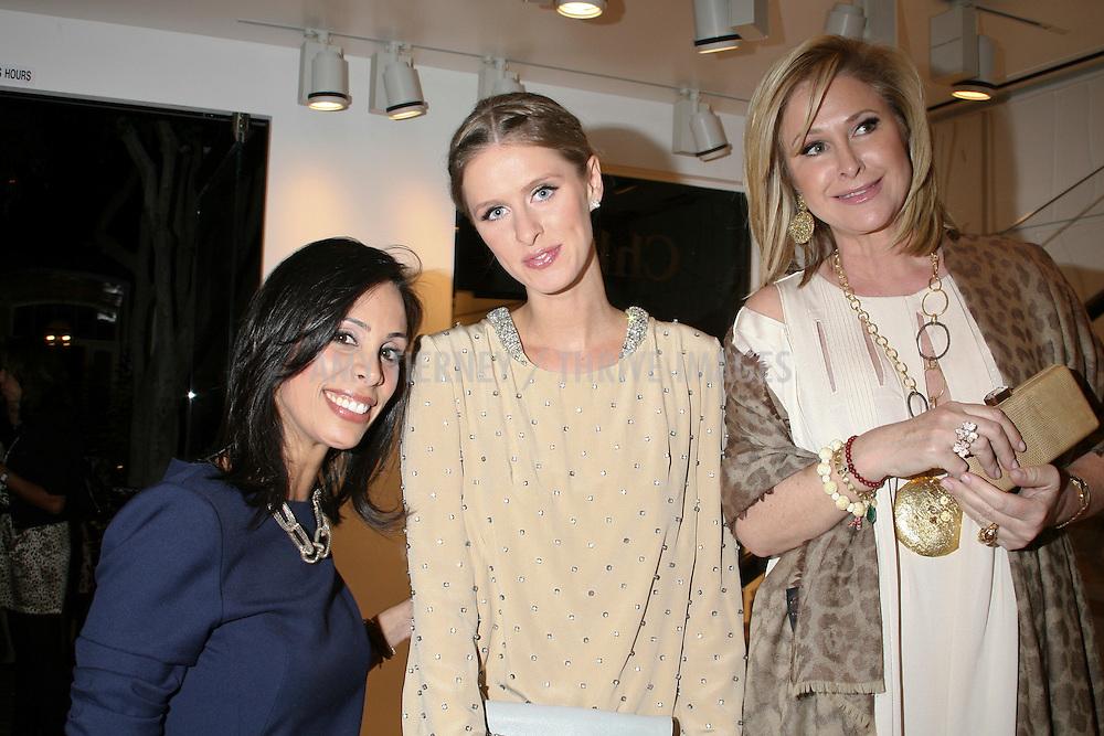 Chloe manager Azzy Rabbie, Nicky Hilton, and Kathy Hilton