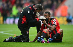Joshua King of Bournemouth receives treatment.  - Mandatory by-line: Alex James/JMP - 11/03/2017 - FOOTBALL - Vitality Stadium - Bournemouth, England - Bournemouth v West Ham United - Premier League
