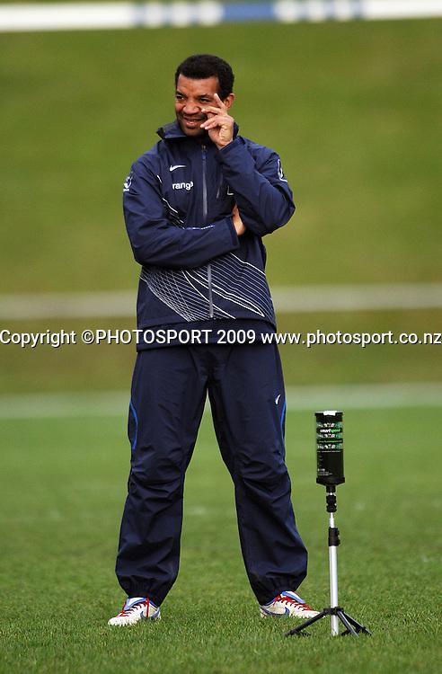 France back coach Emile Ntamack.<br /> France Training Session at Trusts Porirua Park, Porirua, Wellington. Wednesday 17 June 2009. Photo: Dave Lintott/PHOTOSPORT