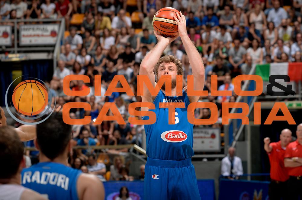 DESCRIZIONE : Bologna Nazionale Italia Uomini Imperial Basketball City Tournament Italia Canada Italy Canada<br /> GIOCATORE : Nicol&ograve; Melli<br /> CATEGORIA : tiro three points<br /> SQUADRA : Italia Italy<br /> EVENTO : Imperial Basketball City Tournament<br /> GARA : Imperial Basketball City Tournament Italia Canada Italy Canada<br /> DATA : 26/06/2016<br /> SPORT : Pallacanestro<br /> AUTORE : Agenzia Ciamillo-Castoria/Max.Ceretti<br /> Galleria : FIP Nazionali 2016<br /> Fotonotizia : Bologna Nazionale Italia Uomini Imperial Basketball City Tournament Italia Canada Italy Canada