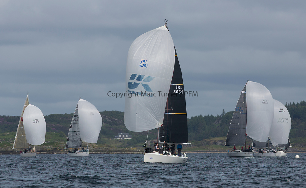 Silvers Marine Scottish Series 2017<br /> Tarbert Loch Fyne - Sailing<br /> <br /> IRL3061, Fools Gold, Robert McConnell, A35<br /> <br /> Credit: Marc Turner / CCC