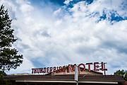 Thunderbird Motel sign
