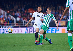 February 28, 2019 - Valencia, U.S. - VALENCIA, SPAIN - FEBRUARY 28: Francis Coquelin, midfielder of Valencia CF competes for the ball with Andres Guardado, defender of Real Betis Balompie during the Copa del Rey match between Valencia CF and Real Betis Balompie at Mestalla stadium on February 28, 2019 in Valencia, Spain. (Photo by Carlos Sanchez Martinez/Icon Sportswire) (Credit Image: © Carlos Sanchez Martinez/Icon SMI via ZUMA Press)
