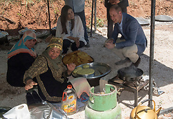 The Duke of Cambridge during a visit to the Princess Taghrid Institute, Dar Niemeh in Jordan, which works with local women and communities to support and train young people, women and orphans.