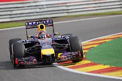 22.08.2014, Circuit de Spa, Francorchamps, BEL, FIA, Formel 1, Grand Prix von Belgien, Training, im Bild Sebastian Vettel (Infiniti Red Bull Racing/Renault) // during the Practice of Belgian Formula One Grand Prix at the Circuit de Spa in Francorchamps, Belgium on 2014/08/22. EXPA Pictures &copy; 2014, PhotoCredit: EXPA/ Eibner-Pressefoto/ Bermel<br /> <br /> *****ATTENTION - OUT of GER*****