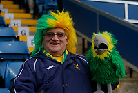 Football - 2019 / 2020 Emirates FA Cup - Fourth Round: Burnley vs. Norwich City<br /> <br /> A Norwich City fan waits with his canary before the kick off, at Turf Moor.<br /> <br /> COLORSPORT/ALAN MARTIN