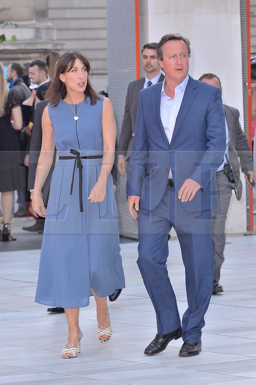 © Licensed to London News Pictures. 20/06/2018. London, UK. Samantha Cameron and David Cameron attends the V&A Summer Party. Photo credit: Ray Tang/LNP