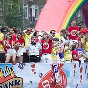 NLD/Amsterdam//20170805 - Gay Pride 2017, Boot BNN/Vara