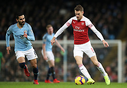 Arsenal's Aaron Ramsey during the Premier League match at the Etihad Stadium, Manchester.