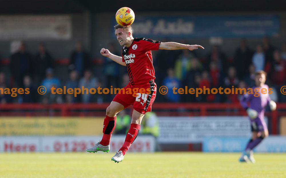 Crawley&rsquo;s Mitch Hancox in action during the Sky Bet League 2 match between Crawley Town and York City at the Checkatrade.com Stadium in Crawley. October 31, 2015.<br /> James Boardman / Telephoto Images<br /> +44 7967 642437