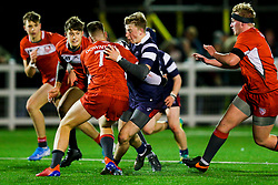 Freddie Vaughn of Bristol Bears U18 - Rogan/JMP - 19/12/2019 - RUGBY UNION - Newlands Park - Cheltenham, England - Gloucester Rugby U18 v Bristol Bears U18 - Premiership Rugby U18 Academy League.