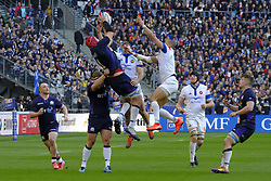 February 23, 2019 - Saint Denis, Seine Saint Denis, France - The Lock of Scotland team GRANT GILCHRIST in action during the Guinness Six Nations Rugby tournament between France and Scotland at the Stade de France - St Denis - France..France won 27-10 (Credit Image: © Pierre Stevenin/ZUMA Wire)