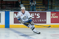 KELOWNA, CANADA - OCTOBER 26: Mitchell Prowse #5 of the Victoria Royals warms up against the Kelowna Rockets on October 26, 2016 at Prospera Place in Kelowna, British Columbia, Canada.  (Photo by Marissa Baecker/Shoot the Breeze)  *** Local Caption ***