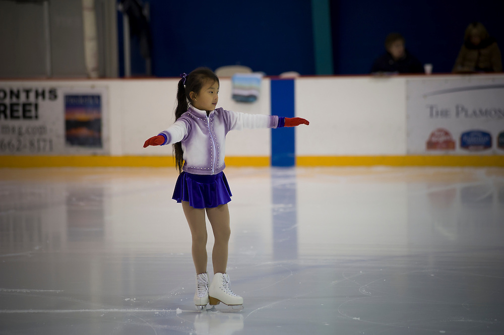 Frederick, MD (December 4, 2011) -- Figure skating test at Skate Frederick Ice Skating Rink.  Photo by Johnny Bivera