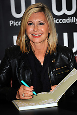 Olivia Newton John book signing