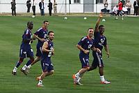 FOOTBALL - MISCS - WORLD CUP 2010 - FRANCE TEAM IN TUNISIA - 28/05/2010 - PHOTO ERIC BRETAGNON / DPPI - JOY FRANCK RIBERY / FLORENT MALOUDA