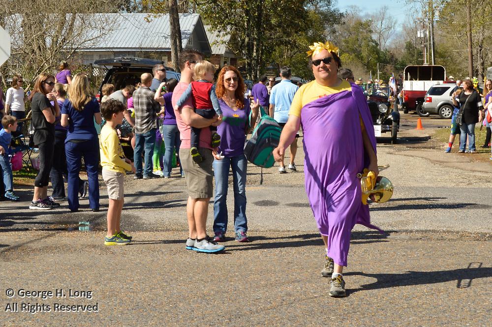 Abita Springs Push Mow Parade on Febrary 18, 2017; sponsored by the Abita Springs Trailhead Museum