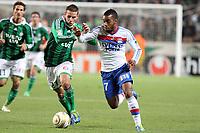 FOOTBALL - FRENCH LEAGUE CUP 2011/2012 - 1/8 FINAL - AS SAINT ETIENNE v OLYMPIQUE LYONNAIS - 26/10/2011 - PHOTO EDDY LEMAISTRE / DPPI - ALEXANDRE LACAZETTE (OL) AND LORIS NERY (ASSE)
