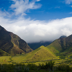 Sky, Clouds and Mountains of West Maui, Hawaii, US