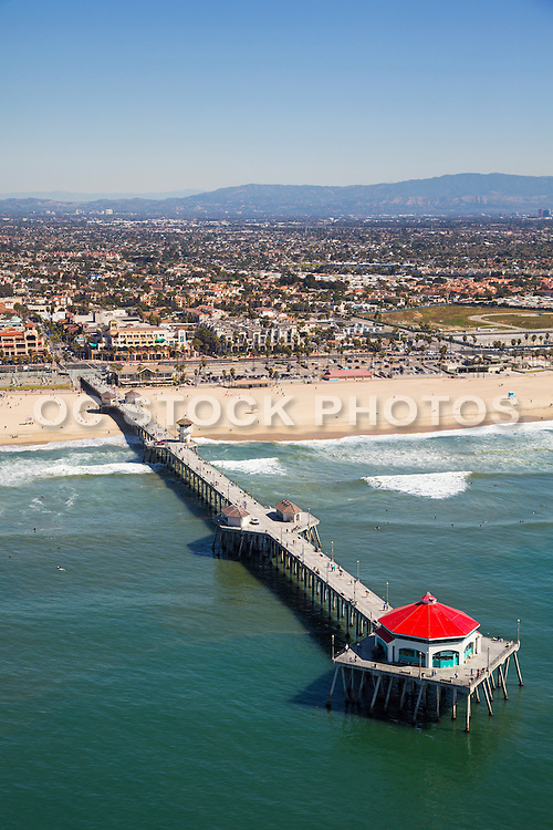 Aerial Stock Photo of Huntington Beach and the Pier