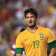 Alexandre Pato, Brazil, during the USA V Brazil International friendly soccer match at FedEx Field, Washington DC, USA. 30th May 2012. Photo Tim Clayton