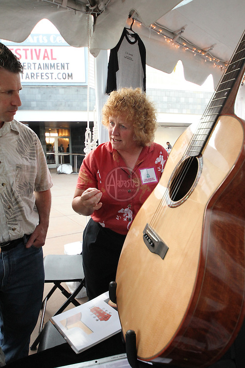 1st Annual Los Angeles Guitar Festival, July 2011.  Luthier's Co-Op Guitars vendor booth.