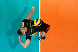 23-09-2019 NED: EC Volleyball 2019 Poland - Germany, Apeldoorn<br /> 1/4 final EC Volleyball Poland win 3-0 / Christian Fromm #1 of Germany