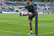 James Ritchie warms up for the 2018 Autumn Test match between Scotland and Fiji at Murrayfield, Edinburgh, Scotland on 10 November 2018.
