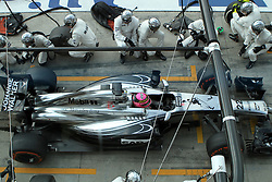 07.09.2014, Autodromo di Monza, Monza, ITA, FIA, Formel 1, Grand Prix von Italien, Renntag, im Bild Jenson Button from McLaren in boxes // during the race day of Italian Formula One Grand Prix at the Autodromo di Monza in Monza, Italy on 2014/09/07. EXPA Pictures © 2014, PhotoCredit: EXPA/ Eibner-Pressefoto/ Cezaro<br /> <br /> *****ATTENTION - OUT of GER*****
