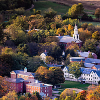 small town in USA during autumn