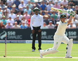 CARDIFF, WALES - JULY 10: Brad Haddin of Australia plays a shot during day three of the 1st Investec Ashes Test match between England and Australia at SWALEC Stadium on July 10, 2015 in Cardiff, United Kingdom. (Photo by Mitchell Gunn/ESPA)(Credit Image: © ESPA Photo Agency/Cal Sport Media/ZUMAPRESS.com)
