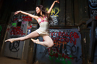 Dance As Art The New York Photography Project- Cortlandt Alley ballerina Xiaoxiao Cao