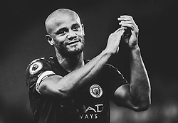 Vincent Kompany of Manchester City celebrates after a victory over Stoke City - Mandatory by-line: Robbie Stephenson/JMP - 12/03/2018 - FOOTBALL - Bet365 Stadium - Stoke-on-Trent, England - Stoke City v Manchester City - Premier League