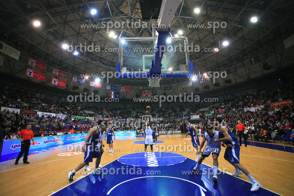 Best Travis (8) at Euroleague match between KK Cibona and Air Avellino, on November 26, 2008, in Cibona Tower, Zagreb, Croatia. Match was won by Cibona 82:79. (Photo by Vid Ponikvar / Sportida)