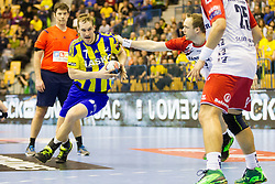 Povilas Babarskas #7 of RK Celje Pivovarna Lasko during handball match between RK Celje Pivovarna Lasko (SLO) and SG Flensburg Handewitt (GER) in 12th Round of EHF Men's Champions League 2015/16, on February 20, 2016 in Arena Zlatorog, Celje, Slovenia. Photo by Urban Urbanc / Sportida