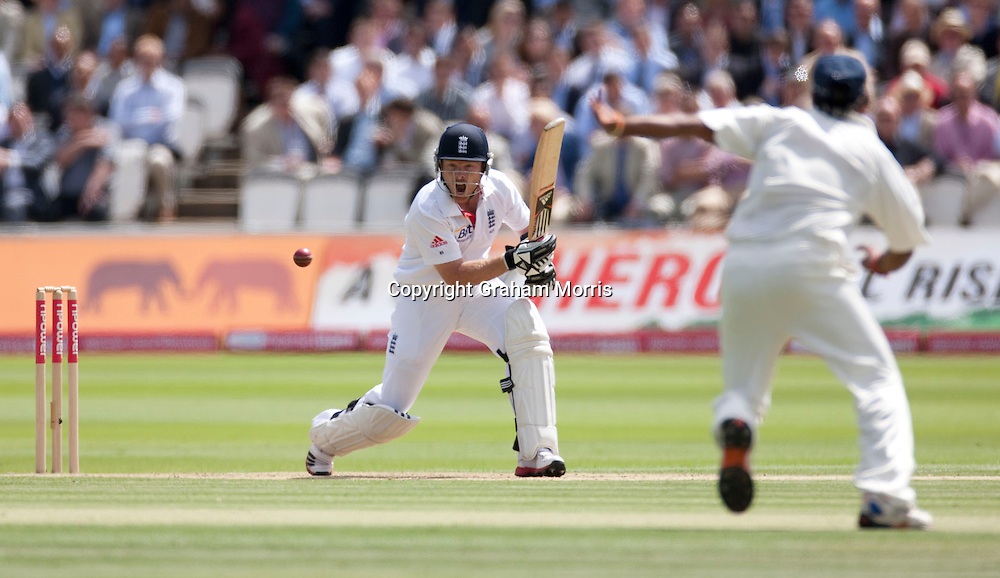 Ian Bell bats during the first npower Test Match between England and India at Lord's Cricket Ground, London.  Photo: Graham Morris (Tel: +44(0)20 8969 4192 Email: sales@cricketpix.com) 22/07/11