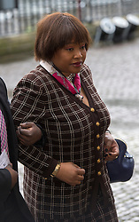 Zindzi daughter of Nelson Mandela arrives at a National Service of Thanksgiving to celebrate the life of Nelson Mandela, at Westminster Abbey in London, Monday, 3rd March 2014. Picture by i-Images