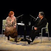 Music Hall ED Patricia Lynch interviews Dr. Deepak Chopra in a Writers on a New England stage presentation.