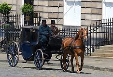 Filming Belgravia,  Edinburgh, 8 July 2019