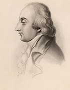 General Alexandre D'Arblay (1748-1818) French soldier who was a refugee in England during the French Revolution.   In 1793 he married Fanny (Frances) Burney the novelist daughter of the musicologist Charles Burney. Engraving from 'Diary and Letters of Madame  D'Arblay' by Fanny Burney (London, 1843). Engraving.