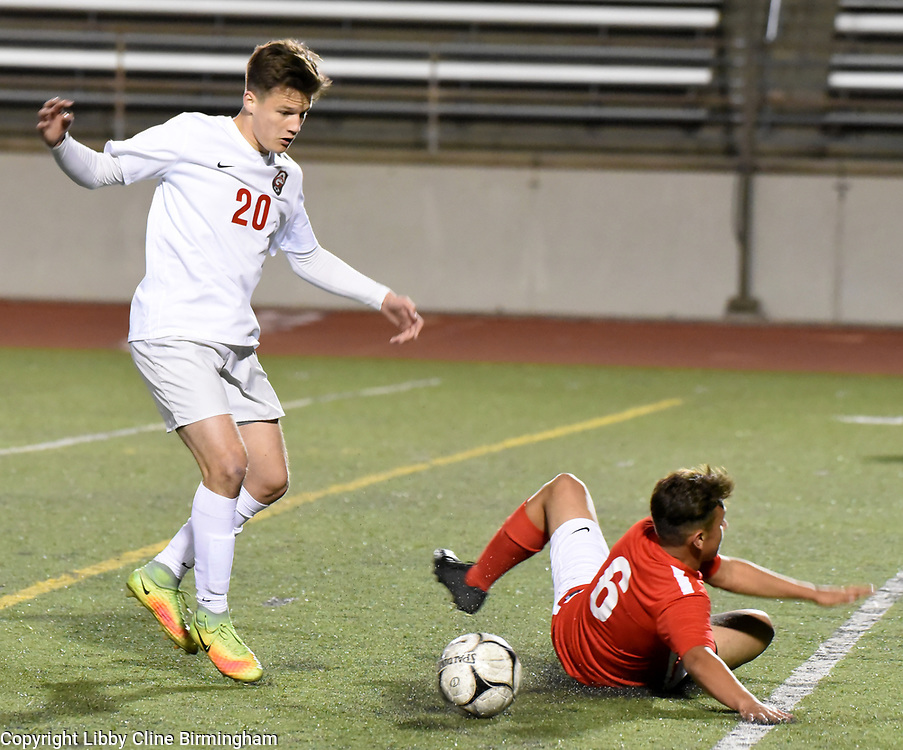 Glendora's  in the first half of a first round CIF soccer prep soccer match against Colony at Citrus College in Glendora, Calif., on Friday, Feb. 16, 2018. (Photo by Libby Cline Birmingham)